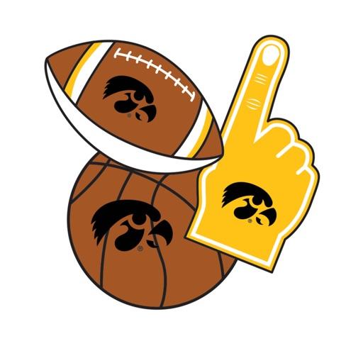 Iowa Hawkeyes Selfie Stickers