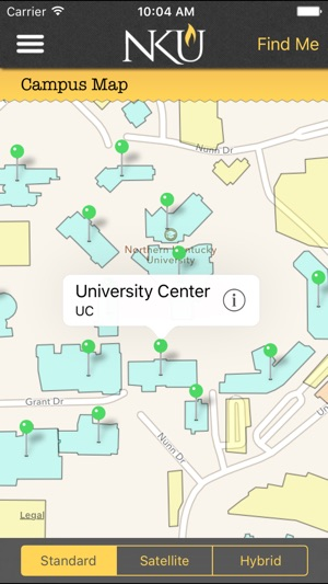 Northern Kentucky University Campus Map.Northern Kentucky University On The App Store