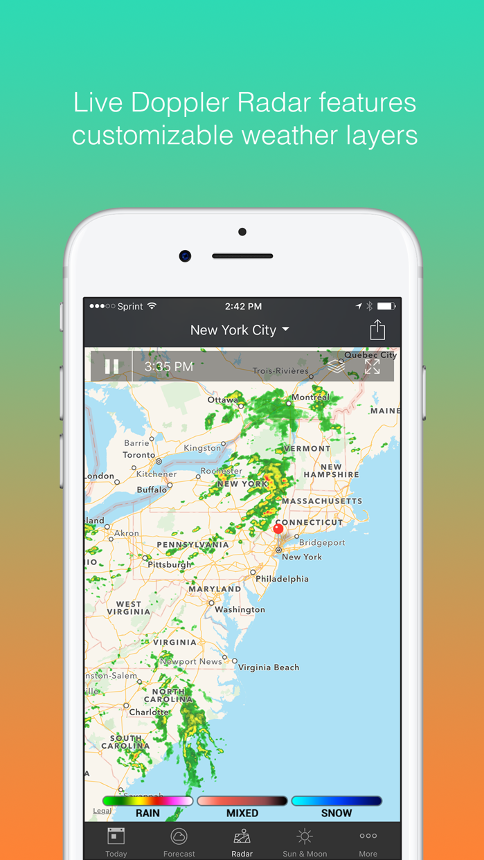 1Weather - Forecast, Radar, Widget & Alerts Screenshot