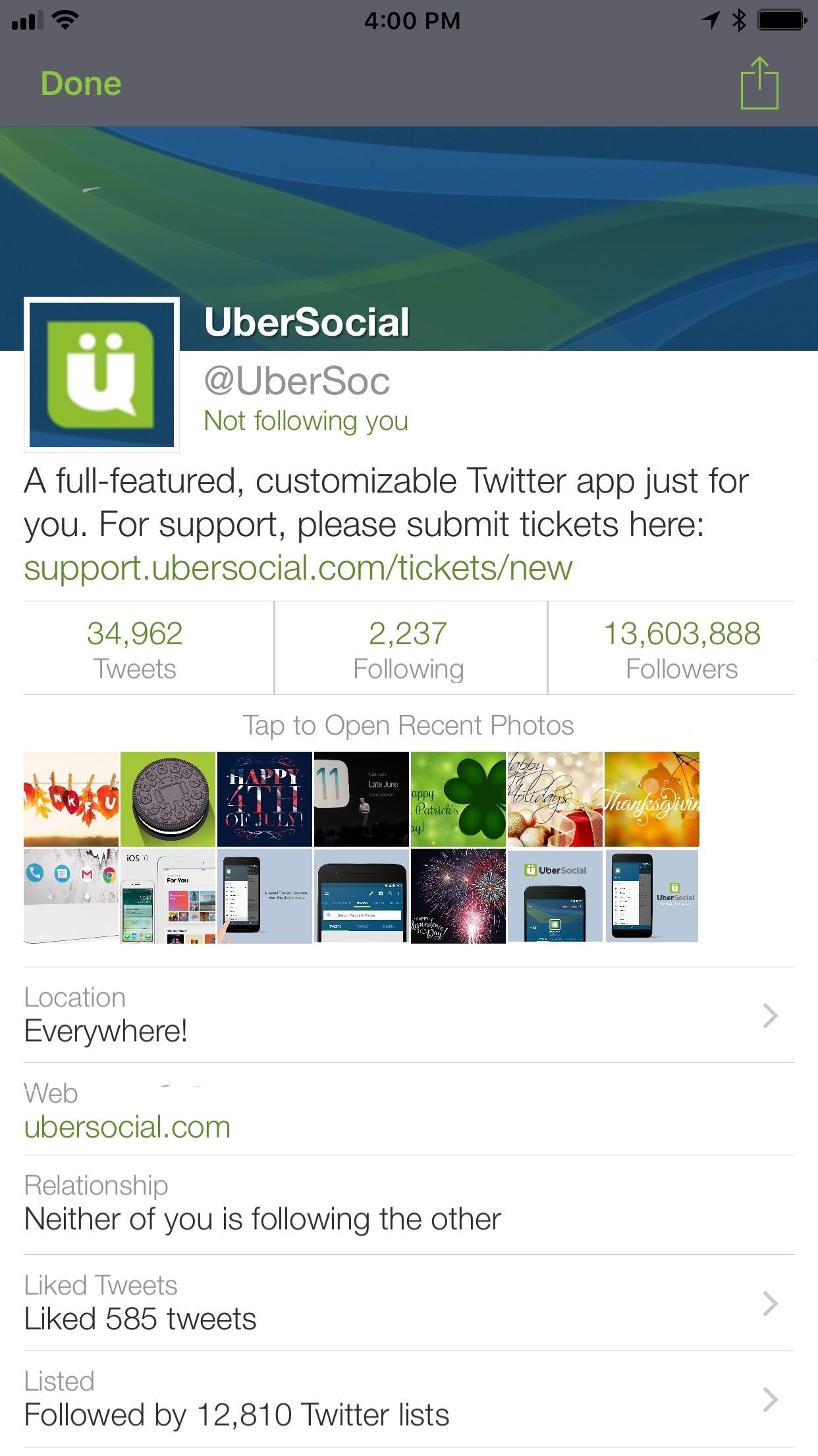 UberSocial Pro for iPhone Screenshot