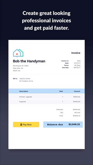 Screenshots  Professional Invoices