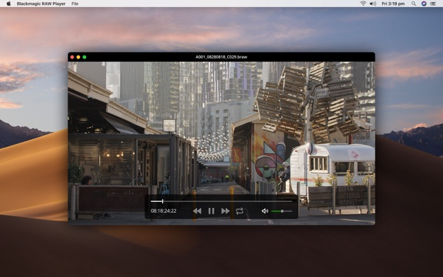 Blackmagic Raw Player On The Mac App Store