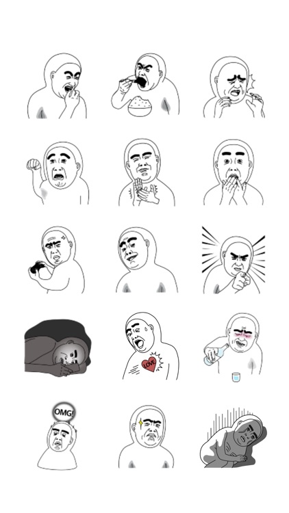 Mr.Dahan stickers 미스터 다한 스티커