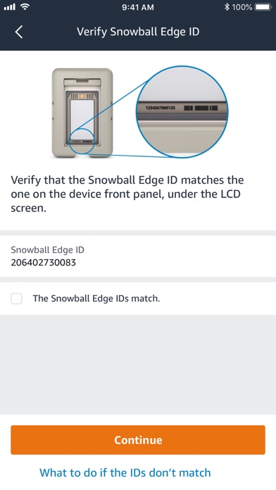 AWS Snowball Edge Verification Screenshot