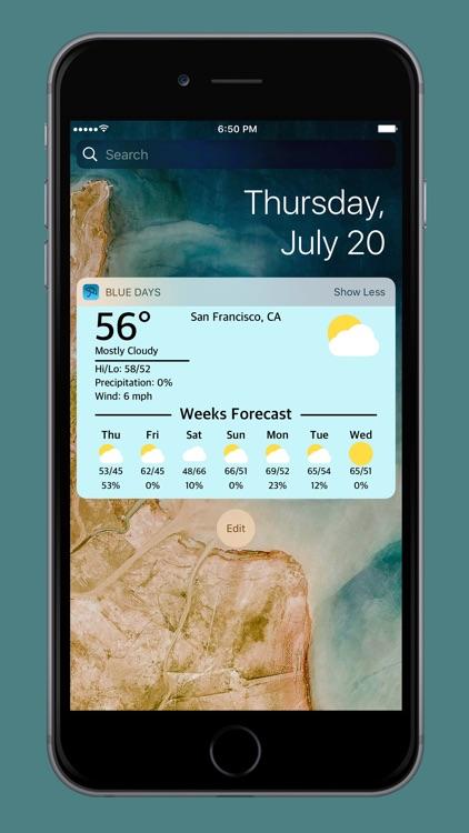 Blue Days - Hyperlocal Weather screenshot-3