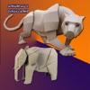 折り紙を作る方法:動物の折り紙の指示