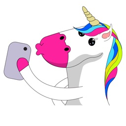 Unicorn Stickers animated Fluffy Unicorn Emojis