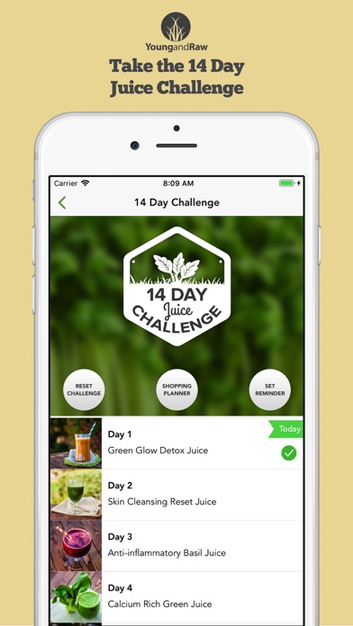 Juice Challenge by Young & Raw Screenshot