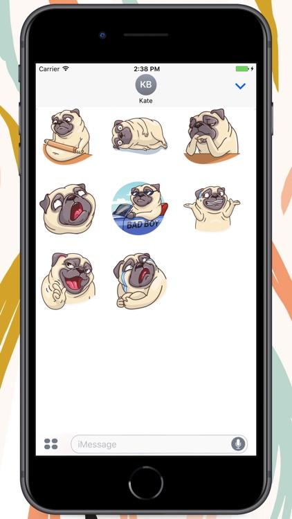 Pug Power Stickers