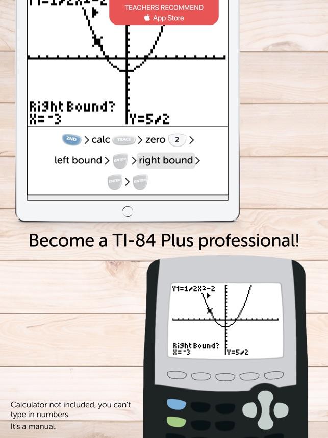 TI 84 Graphing Calculator Man