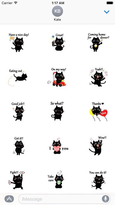Baby Black Cat Sticker screenshot one