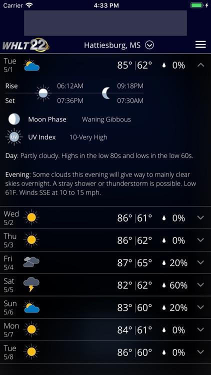 WHLT Weather – Hattiesburg, MS