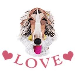 Adorable Borzoi Dog Sticker