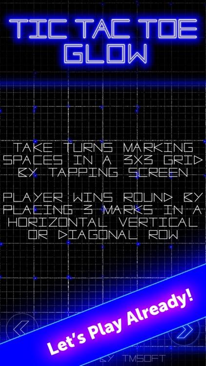 Tic Tac Toe Glow by TMSOFT screenshot-4