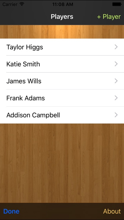 Basketball Stats Tracker Touch screenshot-0