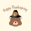 Thanksgiving Bear Emoji