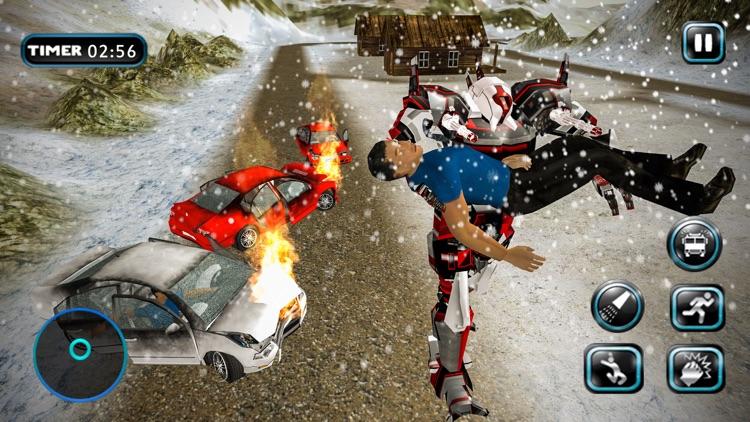Fire Truck Robot Car Transform screenshot-3