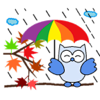 Vu Quoc Hung - Colorful Owls BirdMoji Sticker  artwork