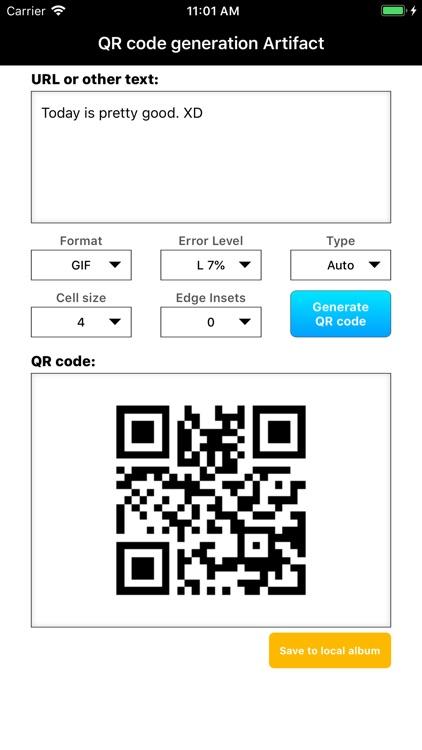 QR code generation Artifact screenshot-3