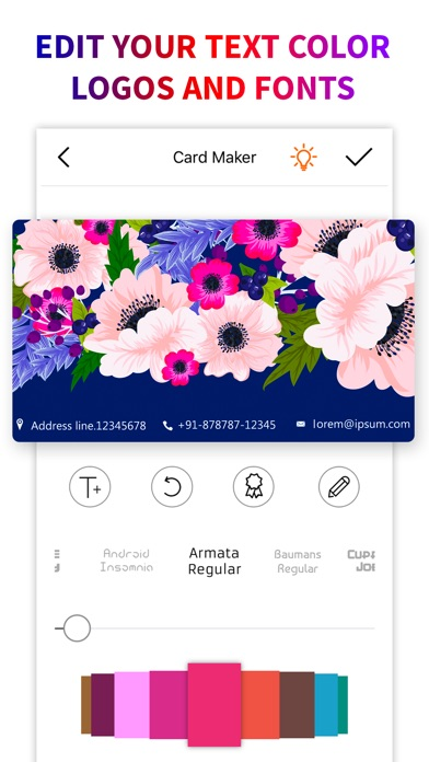 Business card logo maker app price drops screenshot 10 for business card logo maker reheart Gallery