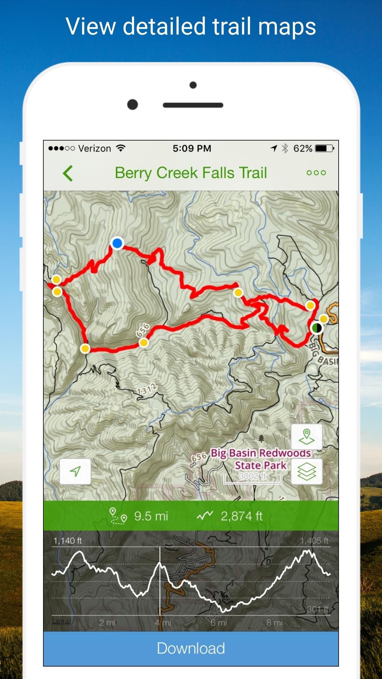 AllTrails - Hiking & Running Screenshot