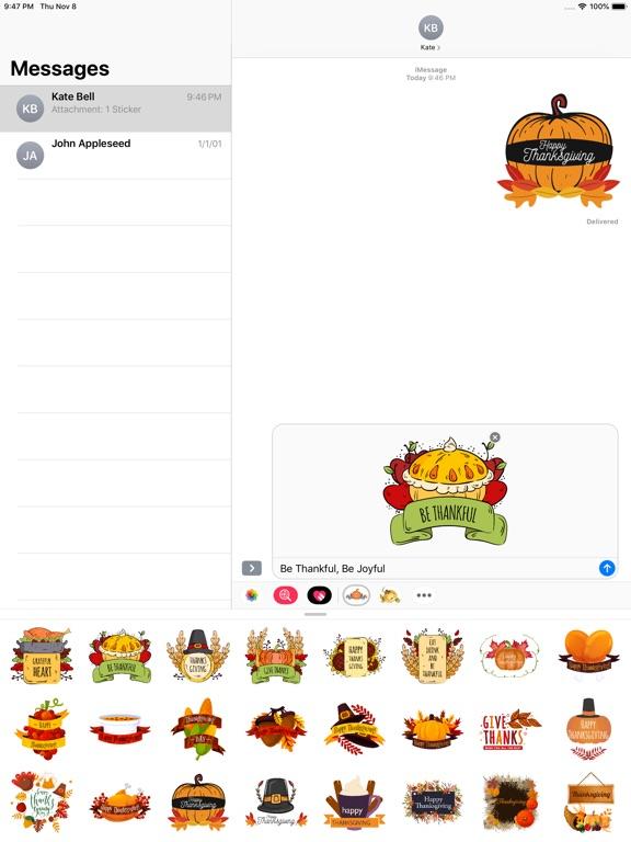 Happy Thanksgiving Day Sticker screenshot 8