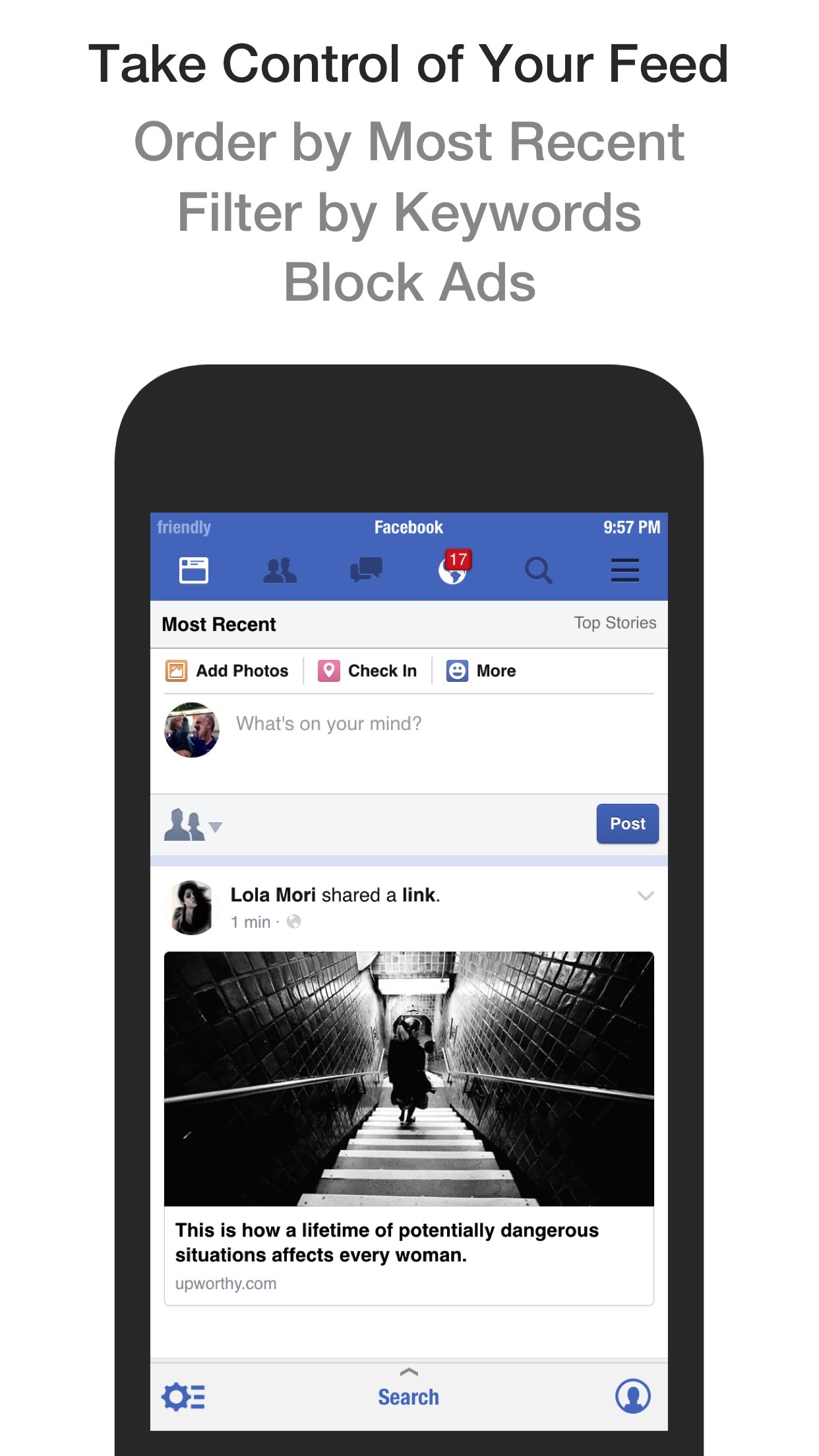 Friendly for Facebook Screenshot