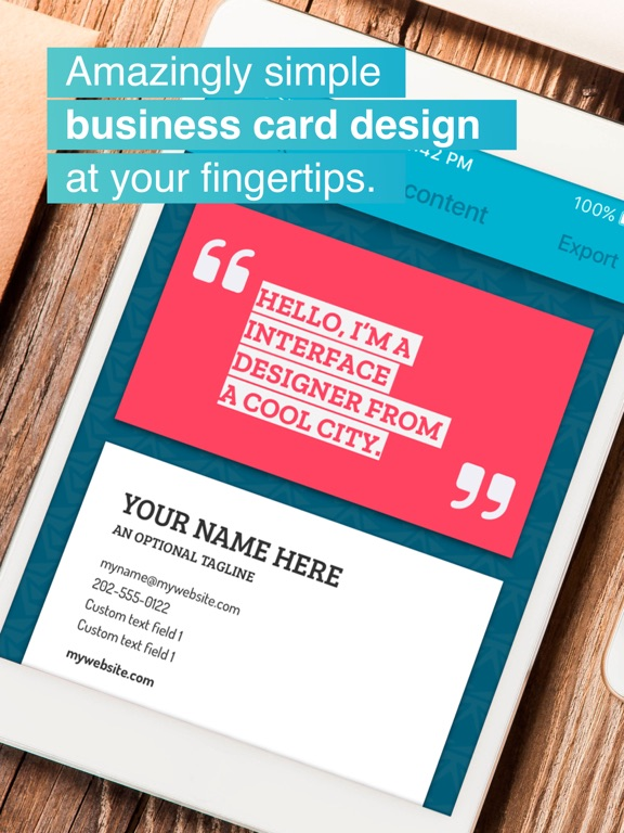 Download print business card maker 10 iosbusiness apps for app screenshots ipad reheart Choice Image