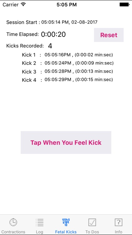 Contraction Timer and Fetal Kick Counter