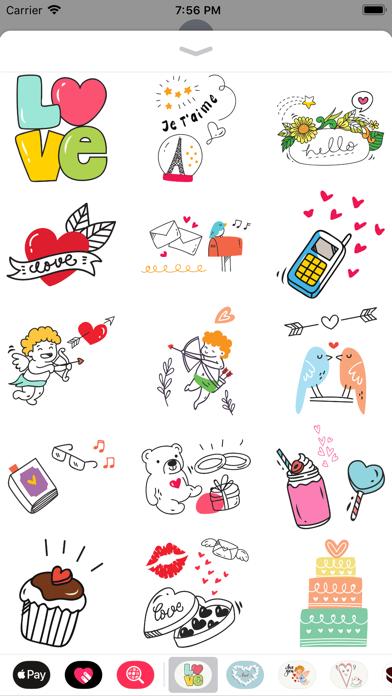 Doodle Valentine's Day Sticker screenshot 4