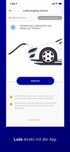 EnBW mobility+ Screenshot