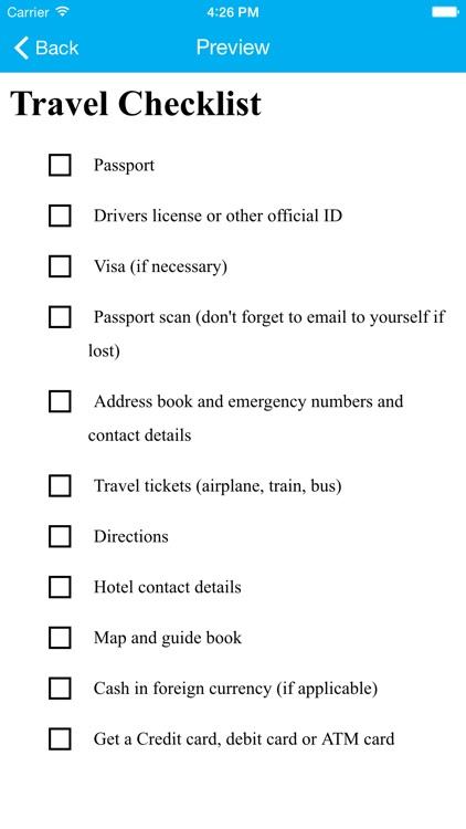 Flash Checklist