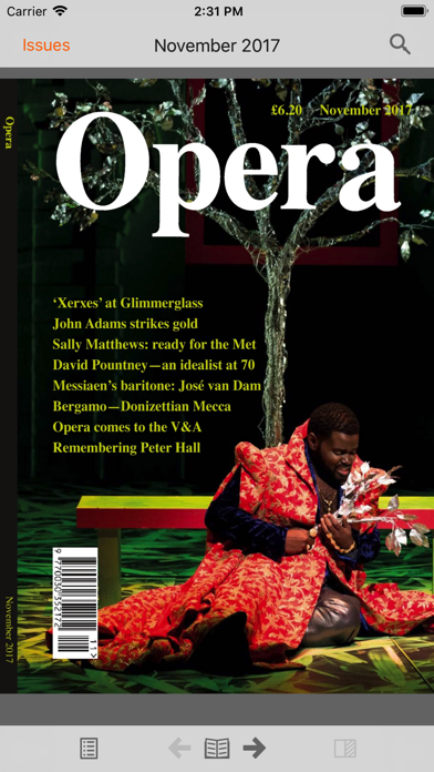 Opera Magazine review screenshots
