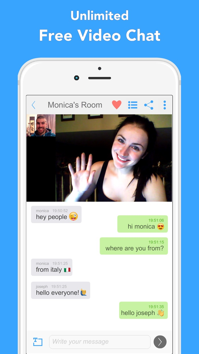 B-Messenger Video Chat Screenshot