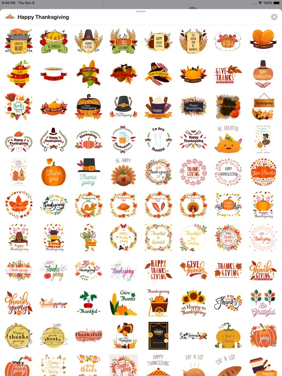 Happy Thanksgiving Day Sticker screenshot 7