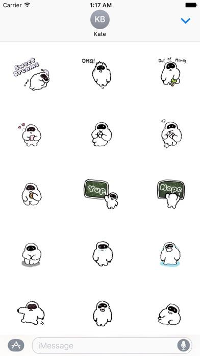 Yetimoji - Yeti Emoji Sticker screenshot 2