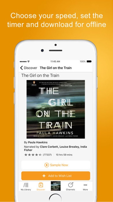 Screenshot 4 for Audible's iPhone app'