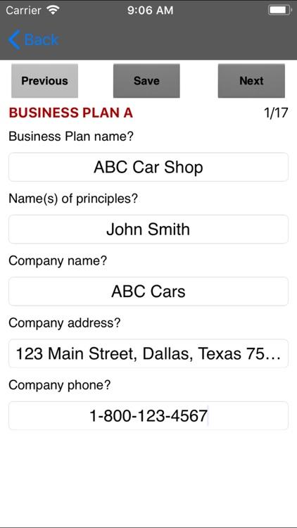 Business Plan App