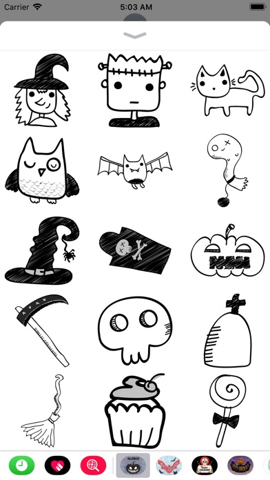 Halloween Sketch Elements screenshot 4