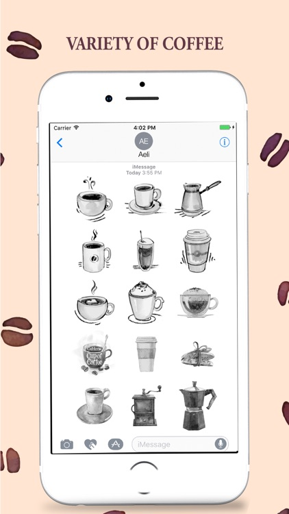 Coffee Stickers Pack for iMessage