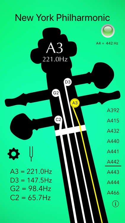 Cello Tuner Basic screenshot-4