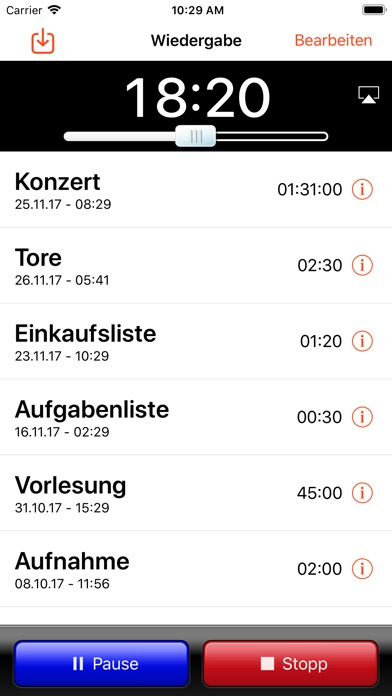 Screenshot for iRecorder Pro - SimpleTouch in Austria App Store