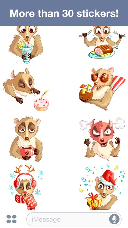 Lemur - Cute stickers screenshot-4