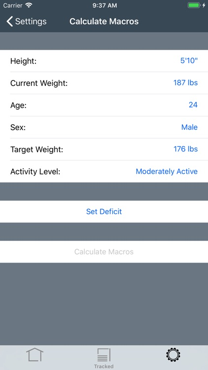 Trackit Macronutrient Tracker screenshot-6
