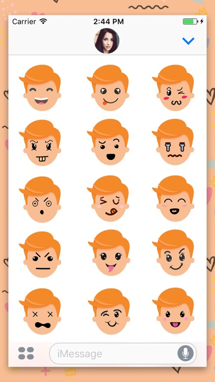 Man Avatar Animated Stickers