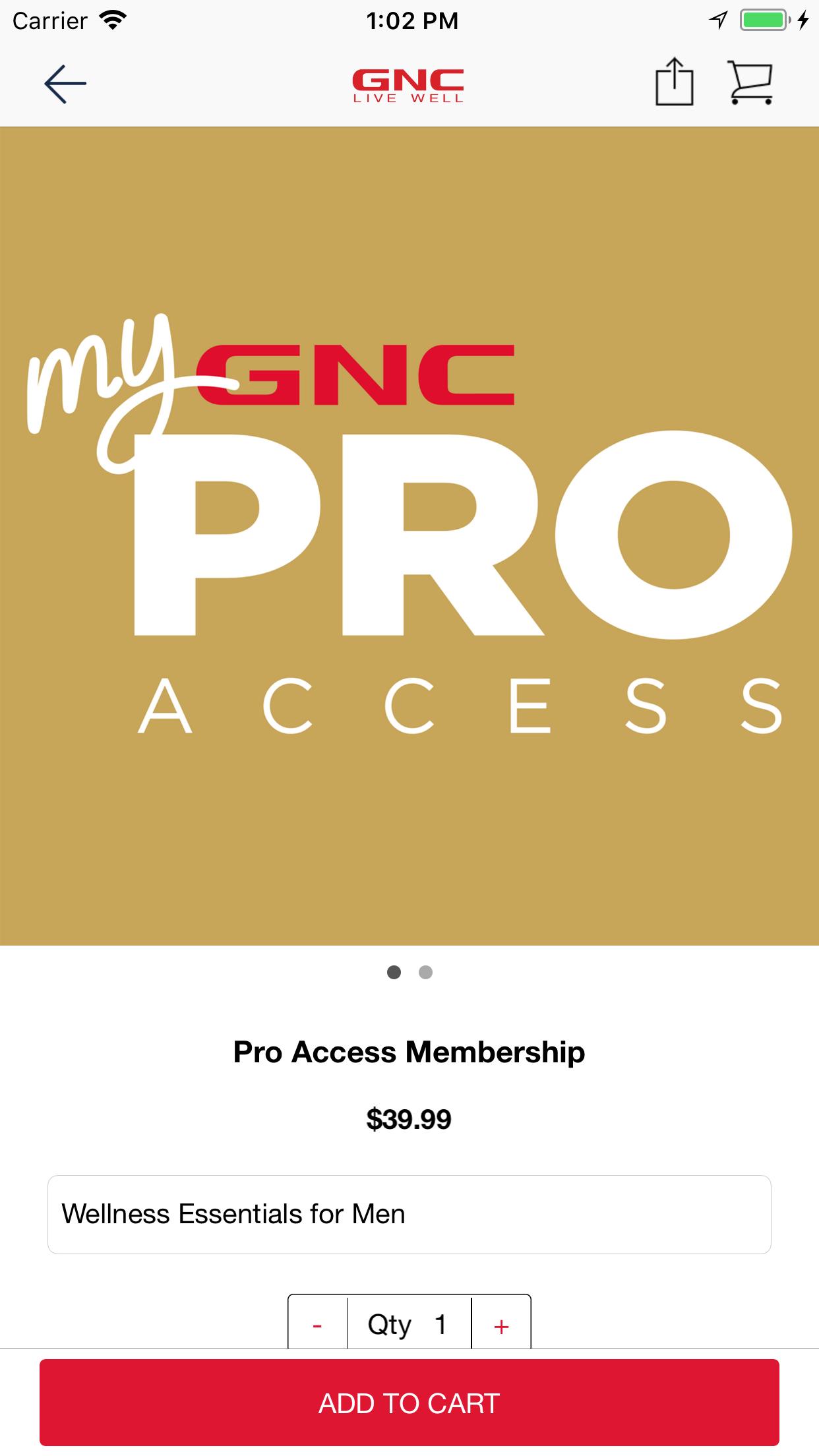 GNC LiveWell Screenshot
