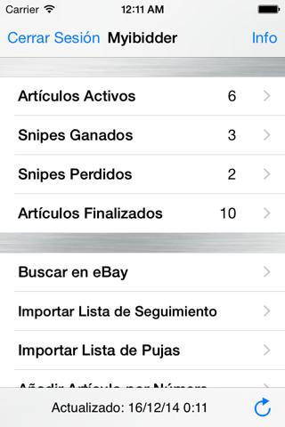 Myibidder Auction Sniper PPS screenshot 1