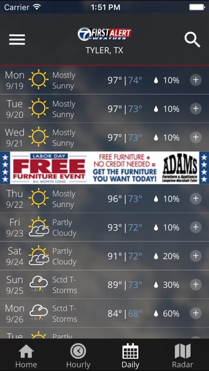 KLTV First Alert Weather screenshot-3