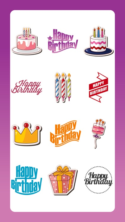 Happy Birthday Emoji Sticker