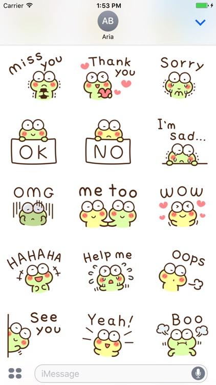 Very Cute Frog Emoji Sticker screenshot-4